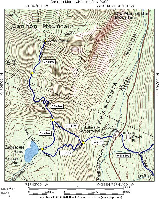 A Day Hike on Cannon Mountain New Hampshire\'s White Mountains