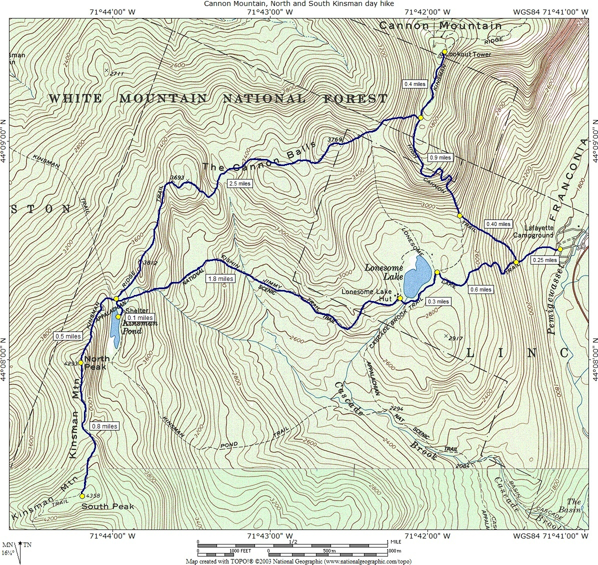 Cannon Mountain, North & South Kinsman day hike on burke mountain trail map, kennesaw mountain battlefield trail map, gunstock trail map, mt. hood meadows trail map, mount wachusett hiking trail map, mt. bachelor trail map, sugar mountain trail map, cannon mtn new hampshire, hunter mountain trail map, mount adams washington trail map, mt. mansfield trail map, mount monadnock hiking trails map, wachusett mountain trail map, black mountain trail map, sno mountain trail map, cannon ski trail map, chugach state park trail map, jay peak trail map, mcintyre trail map, kennesaw mountain park trail map,
