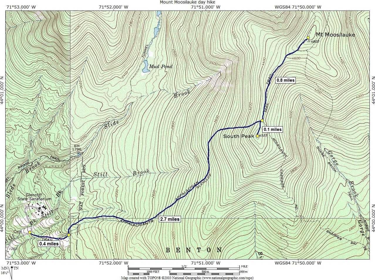 trail map . nhdmap