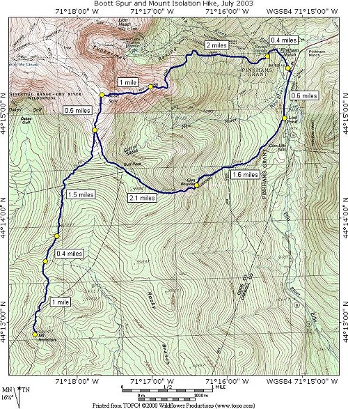 A Day Hike on Boott Spur and Mount Isolation in New Hampshire\'s ...